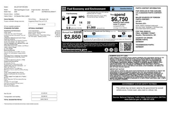 New 2020 Aston Martin DBS Superleggera for sale $328,786 at Rolls-Royce Motor Cars Greenwich in Greenwich CT 06830 23