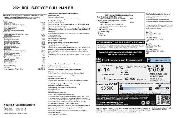 New 2021 Rolls-Royce Cullinan Black Badge for sale $439,700 at Rolls-Royce Motor Cars Greenwich in Greenwich CT 06830 11