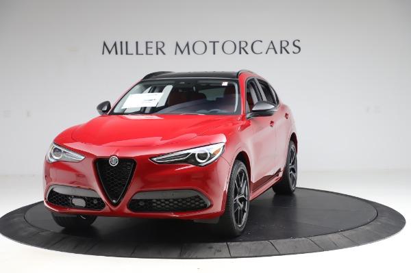 New 2020 Alfa Romeo Stelvio Ti Sport Q4 for sale $54,195 at Rolls-Royce Motor Cars Greenwich in Greenwich CT 06830 1