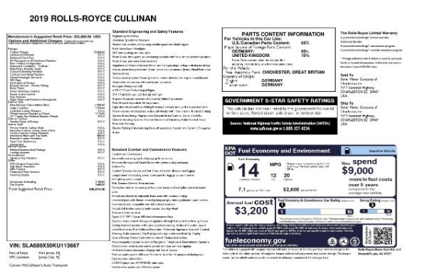 Used 2019 Rolls-Royce Cullinan for sale $349,900 at Rolls-Royce Motor Cars Greenwich in Greenwich CT 06830 27
