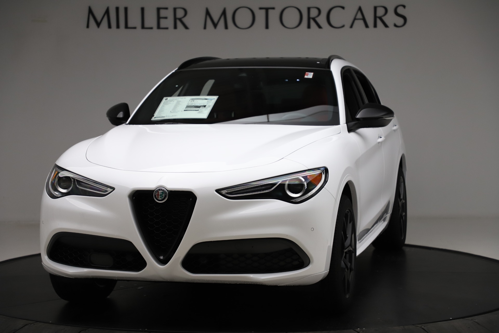 New 2020 Alfa Romeo Stelvio Ti Sport Q4 for sale $53,445 at Rolls-Royce Motor Cars Greenwich in Greenwich CT 06830 1