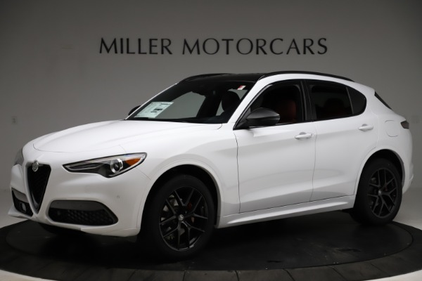 New 2021 Alfa Romeo Stelvio Ti Sport Q4 for sale $55,490 at Rolls-Royce Motor Cars Greenwich in Greenwich CT 06830 2