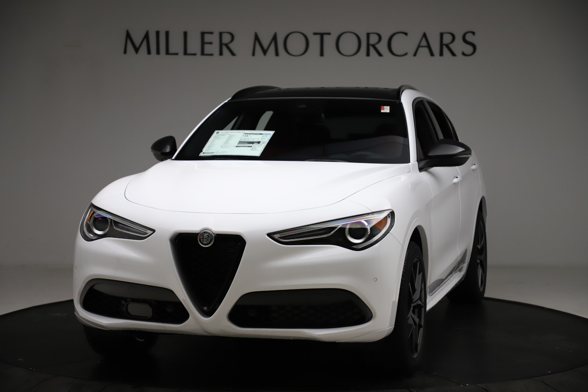 New 2021 Alfa Romeo Stelvio Ti Sport Q4 for sale $55,490 at Rolls-Royce Motor Cars Greenwich in Greenwich CT 06830 1