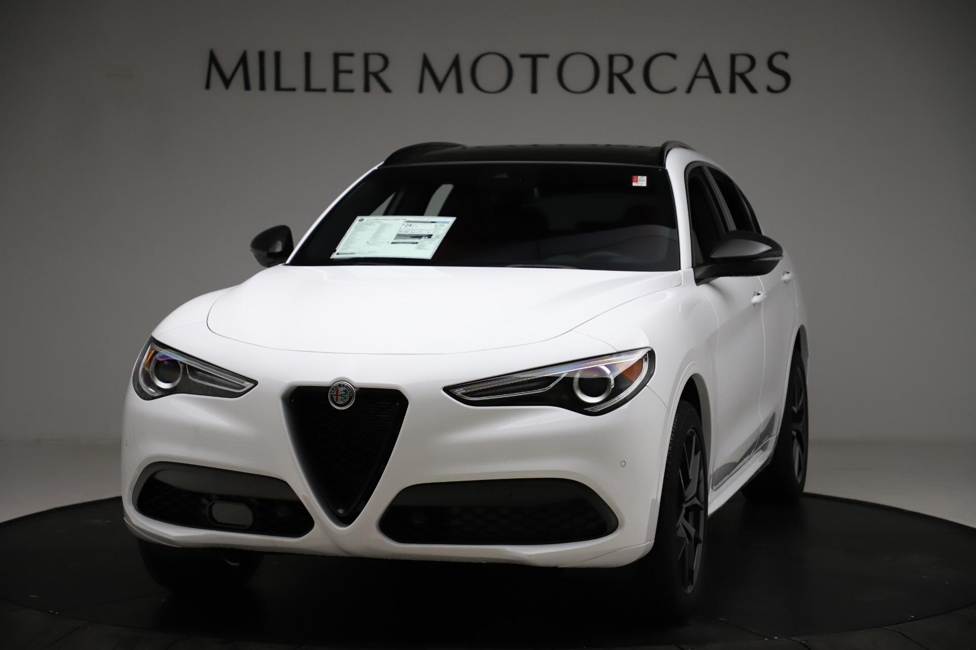 New 2021 Alfa Romeo Stelvio Ti Sport Q4 for sale $55,490 at Rolls-Royce Motor Cars Greenwich in Greenwich CT 06830 1