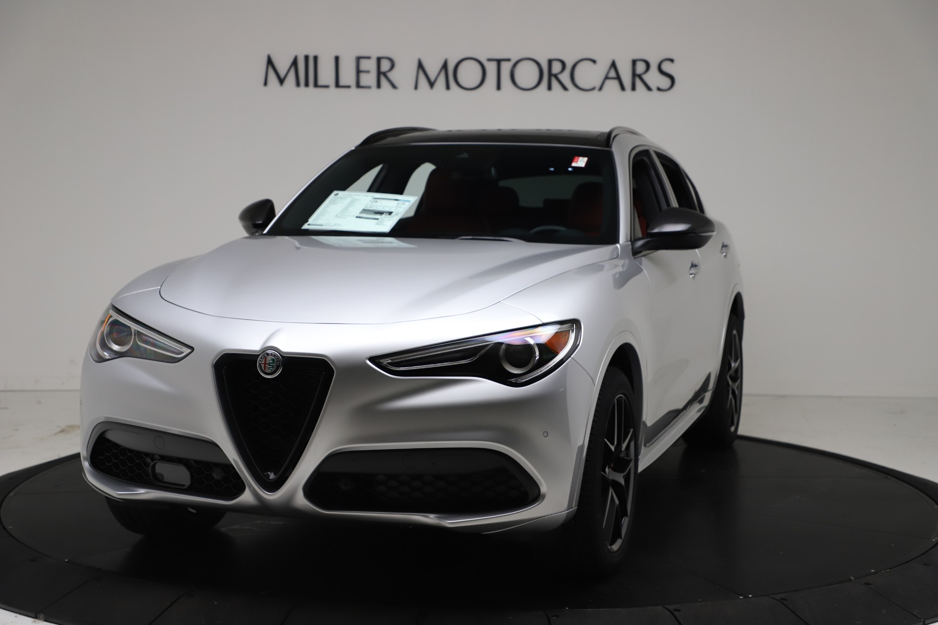 New 2021 Alfa Romeo Stelvio Ti Sport Q4 for sale Call for price at Rolls-Royce Motor Cars Greenwich in Greenwich CT 06830 1