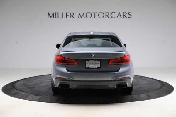 Used 2018 BMW 5 Series M550i xDrive for sale $49,900 at Rolls-Royce Motor Cars Greenwich in Greenwich CT 06830 6