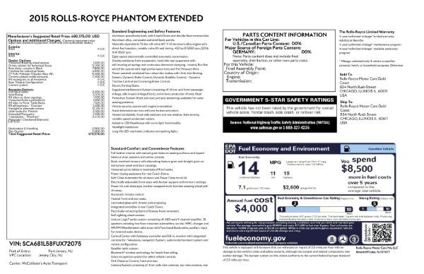 Used 2015 Rolls-Royce Phantom EWB for sale $289,900 at Rolls-Royce Motor Cars Greenwich in Greenwich CT 06830 26