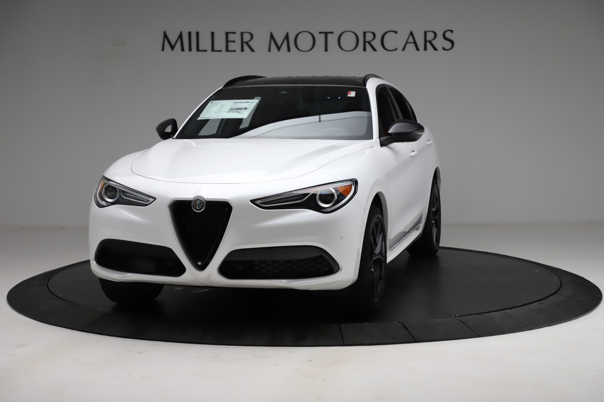 New 2021 Alfa Romeo Stelvio Ti Sport Q4 for sale $58,540 at Rolls-Royce Motor Cars Greenwich in Greenwich CT 06830 1