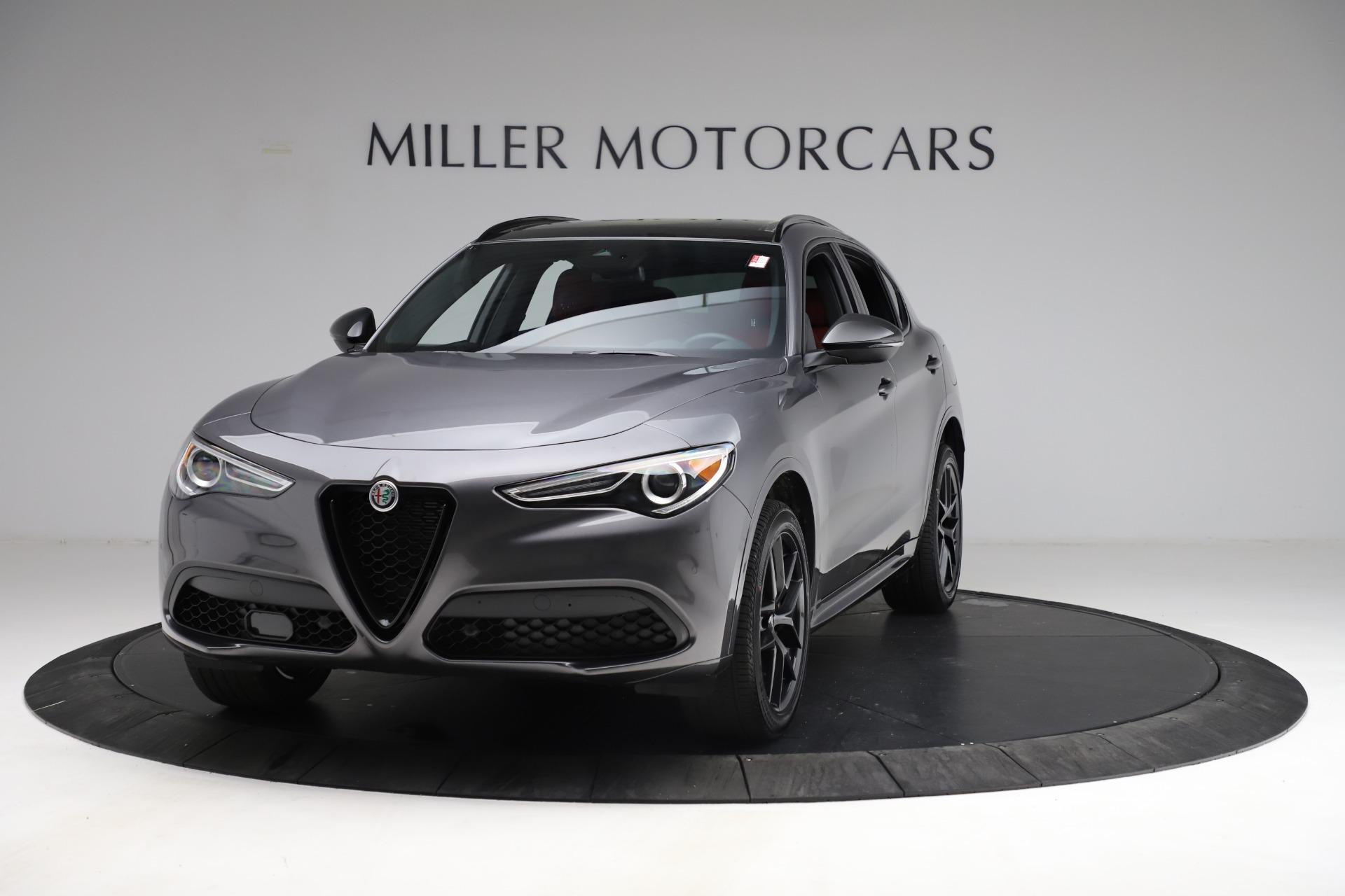 New 2021 Alfa Romeo Stelvio Ti Sport Q4 for sale $55,950 at Rolls-Royce Motor Cars Greenwich in Greenwich CT 06830 1