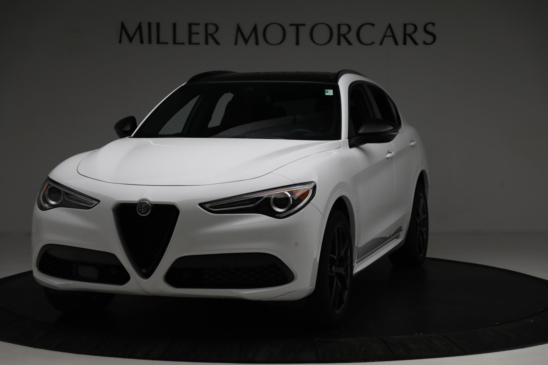 New 2021 Alfa Romeo Stelvio Ti Sport Q4 for sale $56,040 at Rolls-Royce Motor Cars Greenwich in Greenwich CT 06830 1