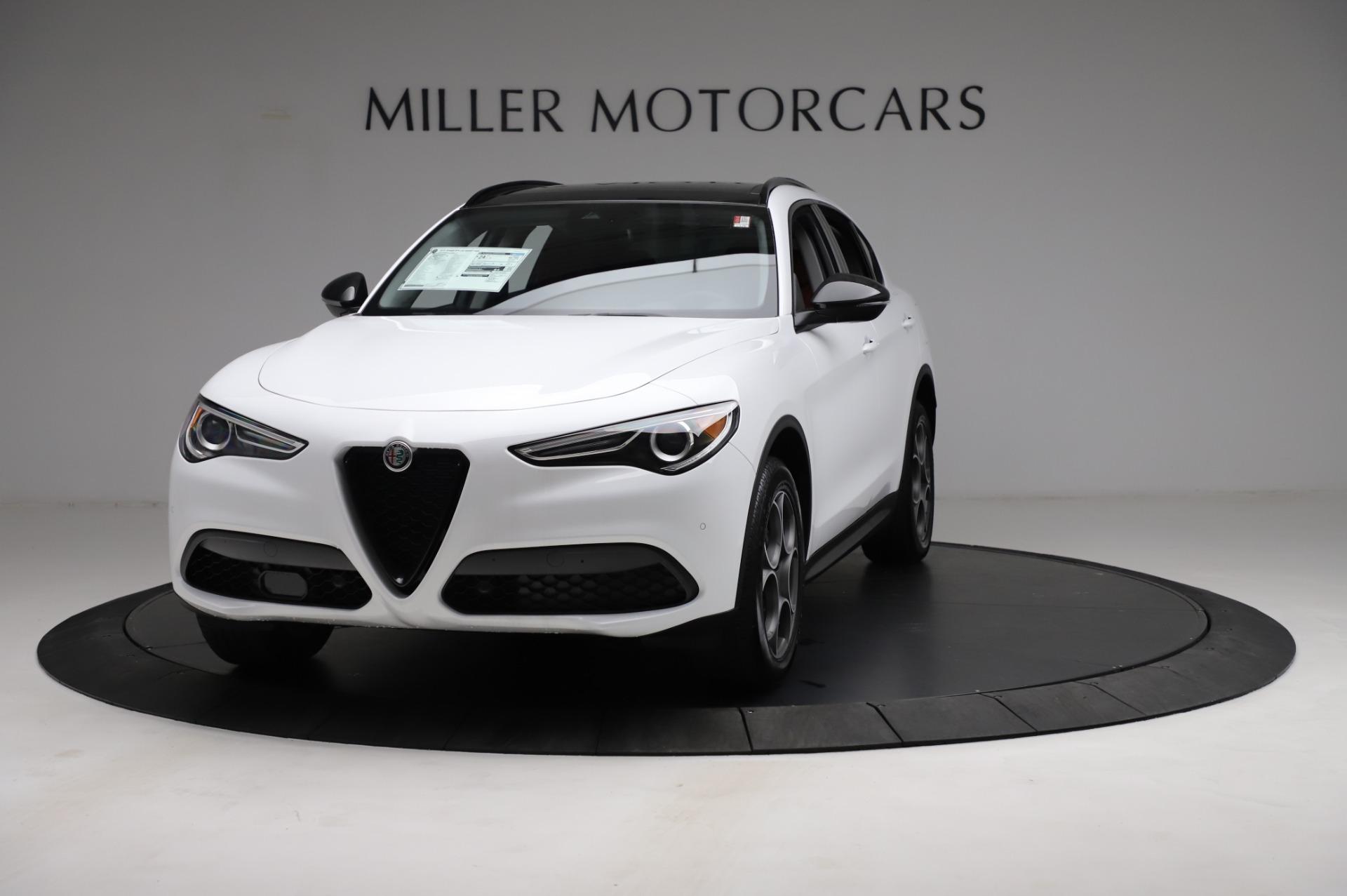 New 2021 Alfa Romeo Stelvio Q4 for sale $49,935 at Rolls-Royce Motor Cars Greenwich in Greenwich CT 06830 1