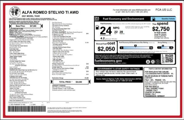 New 2021 Alfa Romeo Stelvio Ti Q4 for sale Sold at Rolls-Royce Motor Cars Greenwich in Greenwich CT 06830 28