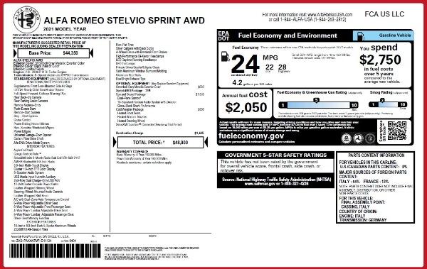 New 2021 Alfa Romeo Stelvio Q4 for sale $48,300 at Rolls-Royce Motor Cars Greenwich in Greenwich CT 06830 2
