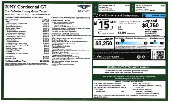Used 2020 Bentley Continental GT W12 for sale $279,900 at Rolls-Royce Motor Cars Greenwich in Greenwich CT 06830 28