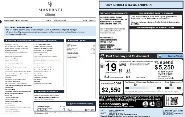 New 2021 Maserati Ghibli S Q4 GranSport for sale Sold at Rolls-Royce Motor Cars Greenwich in Greenwich CT 06830 2