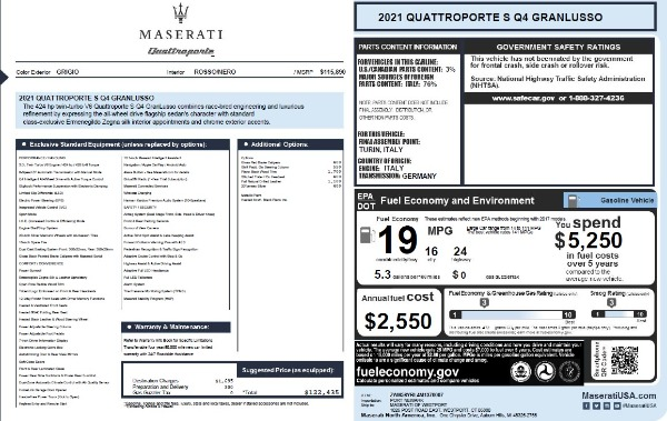 New 2021 Maserati Quattroporte S Q4 GranLusso for sale $122,435 at Rolls-Royce Motor Cars Greenwich in Greenwich CT 06830 27