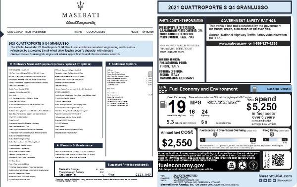 New 2021 Maserati Quattroporte S Q4 GranLusso for sale $123,549 at Rolls-Royce Motor Cars Greenwich in Greenwich CT 06830 25