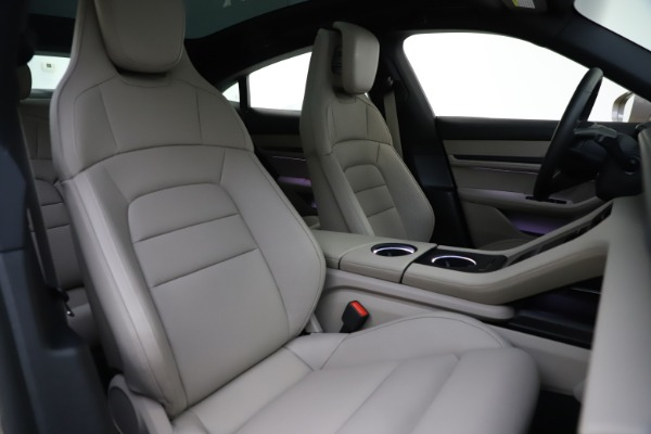 Used 2021 Porsche Taycan 4S for sale Sold at Rolls-Royce Motor Cars Greenwich in Greenwich CT 06830 21