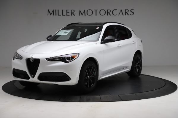 New 2021 Alfa Romeo Stelvio Ti Sport Q4 for sale $56,240 at Rolls-Royce Motor Cars Greenwich in Greenwich CT 06830 2