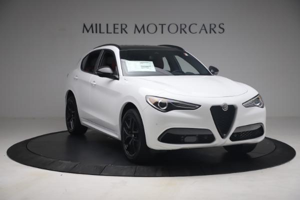 New 2021 Alfa Romeo Stelvio Ti Sport Q4 for sale $54,095 at Rolls-Royce Motor Cars Greenwich in Greenwich CT 06830 12