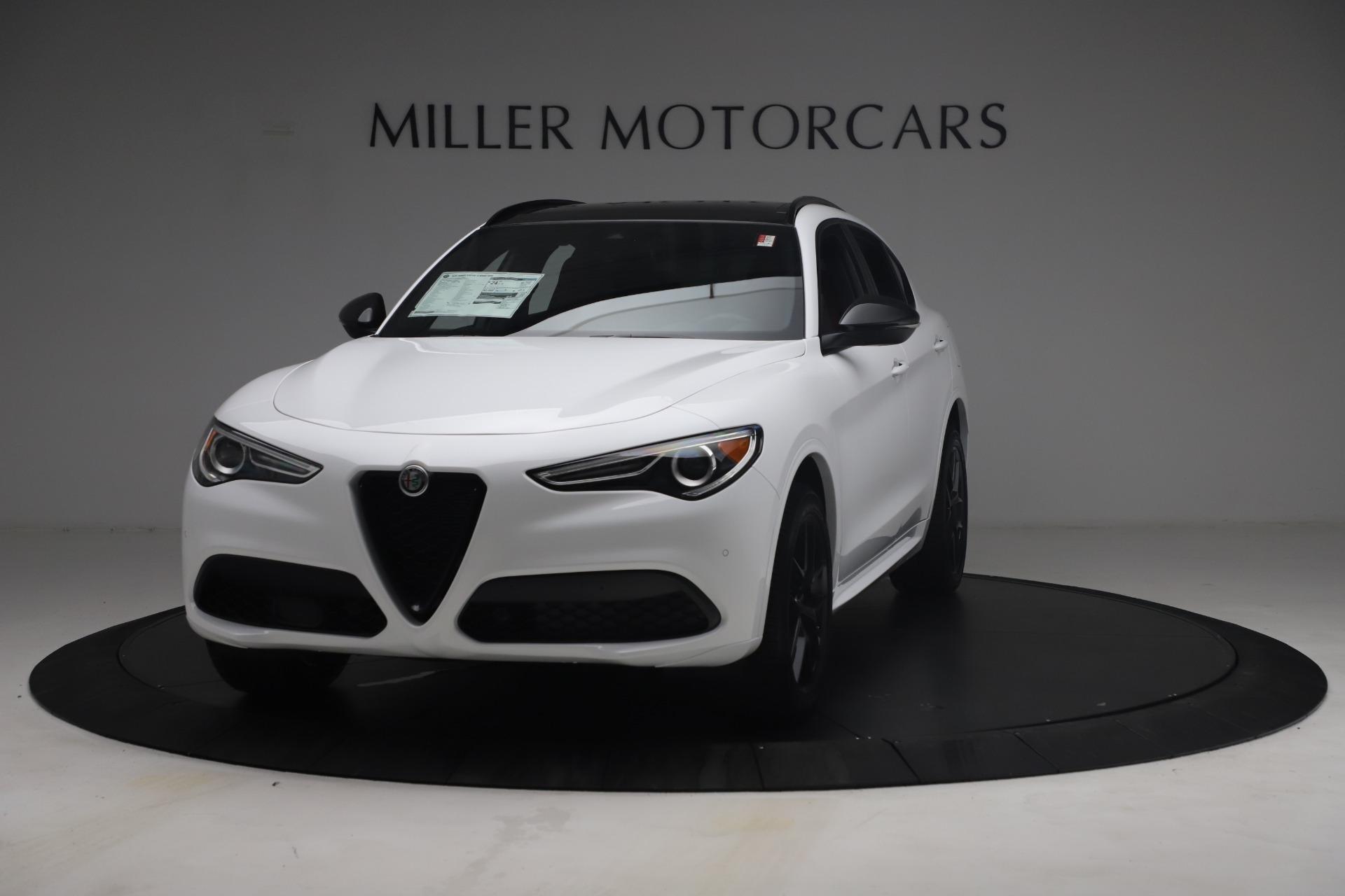 New 2021 Alfa Romeo Stelvio Ti Sport Q4 for sale $54,095 at Rolls-Royce Motor Cars Greenwich in Greenwich CT 06830 1