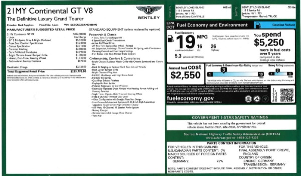 Used 2021 Bentley Continental GT V8 for sale Sold at Rolls-Royce Motor Cars Greenwich in Greenwich CT 06830 27