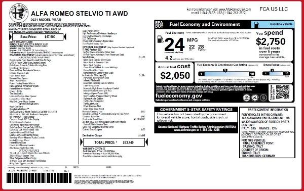New 2021 Alfa Romeo Stelvio Ti Q4 for sale $53,740 at Rolls-Royce Motor Cars Greenwich in Greenwich CT 06830 24