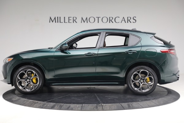 New 2021 Alfa Romeo Stelvio Ti Sport Q4 for sale $58,500 at Rolls-Royce Motor Cars Greenwich in Greenwich CT 06830 3