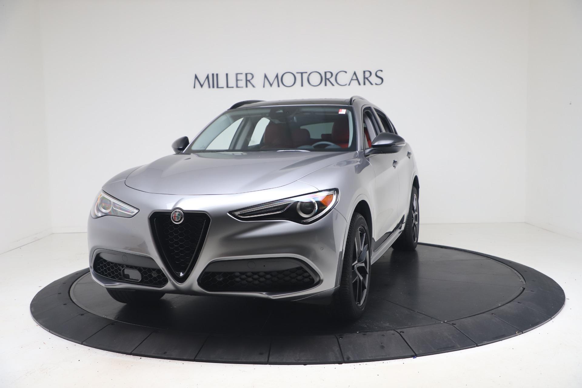 New 2021 Alfa Romeo Stelvio Ti Q4 for sale $54,400 at Rolls-Royce Motor Cars Greenwich in Greenwich CT 06830 1