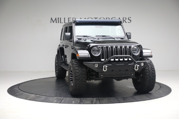 Used 2020 Jeep Wrangler Unlimited Sahara for sale Sold at Rolls-Royce Motor Cars Greenwich in Greenwich CT 06830 14