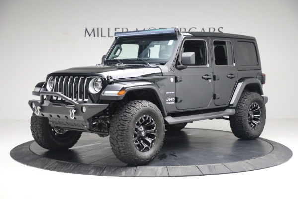 Used 2020 Jeep Wrangler Unlimited Sahara for sale Sold at Rolls-Royce Motor Cars Greenwich in Greenwich CT 06830 2