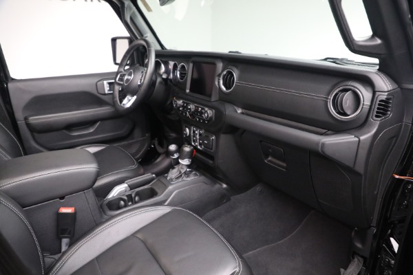 Used 2020 Jeep Wrangler Unlimited Sahara for sale Sold at Rolls-Royce Motor Cars Greenwich in Greenwich CT 06830 20