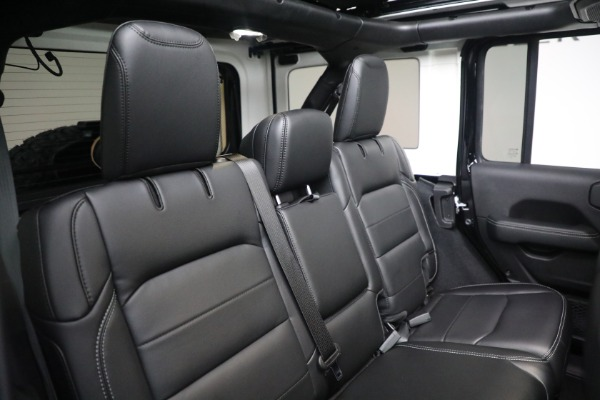 Used 2020 Jeep Wrangler Unlimited Sahara for sale Sold at Rolls-Royce Motor Cars Greenwich in Greenwich CT 06830 24