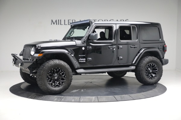 Used 2020 Jeep Wrangler Unlimited Sahara for sale Sold at Rolls-Royce Motor Cars Greenwich in Greenwich CT 06830 3