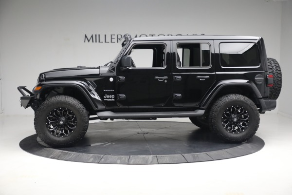 Used 2020 Jeep Wrangler Unlimited Sahara for sale Sold at Rolls-Royce Motor Cars Greenwich in Greenwich CT 06830 4