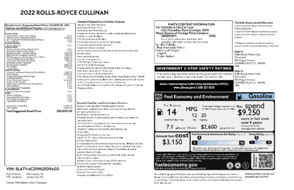 New 2022 Rolls-Royce Cullinan for sale Call for price at Rolls-Royce Motor Cars Greenwich in Greenwich CT 06830 9