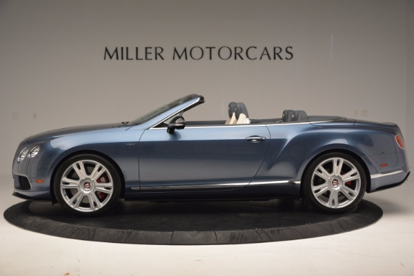 Used 2014 Bentley Continental GT V8 S Convertible for sale Sold at Rolls-Royce Motor Cars Greenwich in Greenwich CT 06830 3