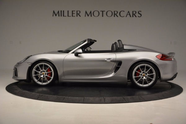 Used 2016 Porsche Boxster Spyder for sale Sold at Rolls-Royce Motor Cars Greenwich in Greenwich CT 06830 3