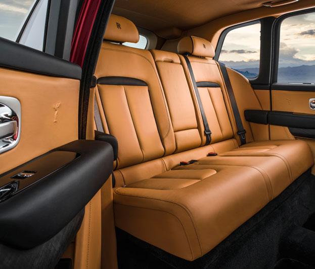 Rolls-Royce Cullinan back seats