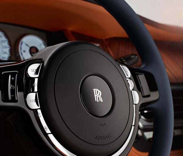 Rolls-Royce dawn steering wheel