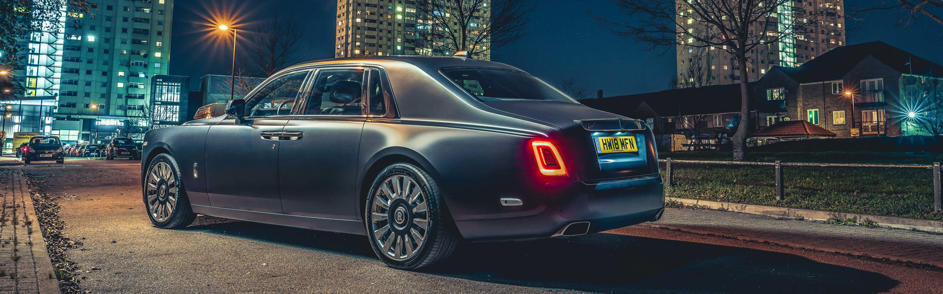 Side view of Rolls-Royce Phantom