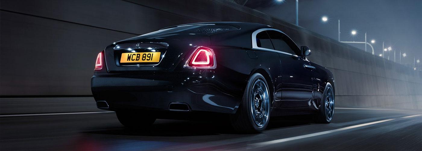 Rear view of Rolls-Royce Black Badge